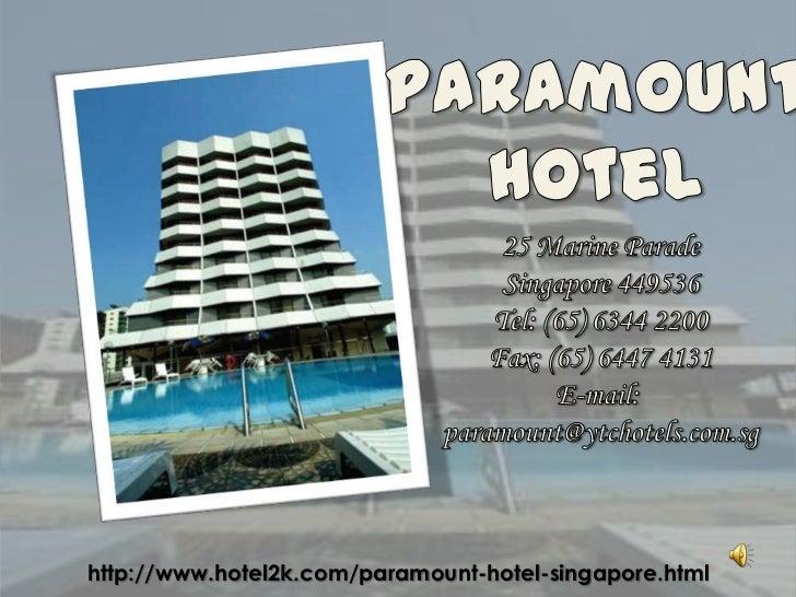 Singapore Paramount Hotel