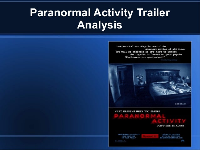 Paranormal activity trailer analysis