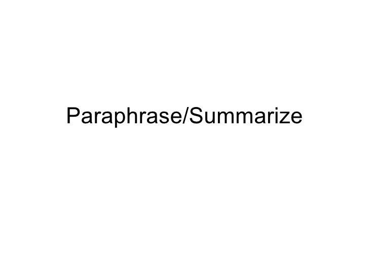 Paraphrase Night