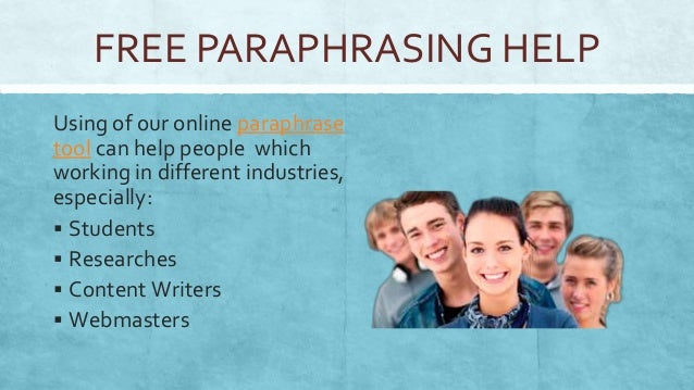 Paraphrasing website