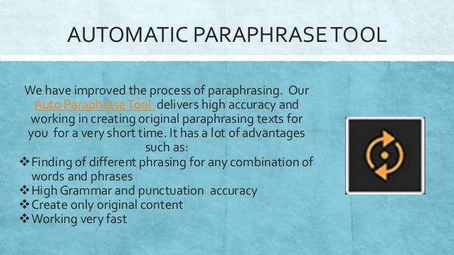 Auto paraphrase online
