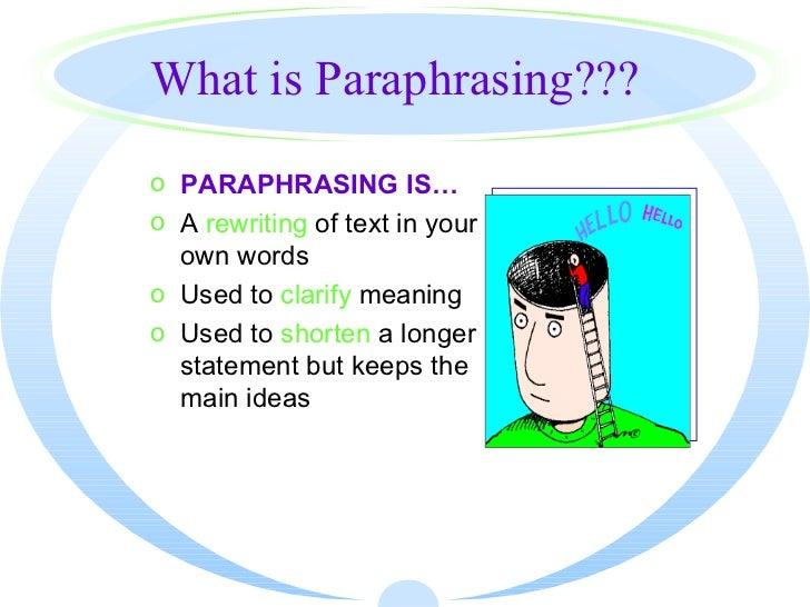 paraphrase defintion