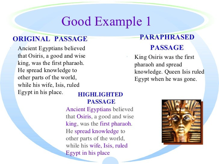 Paraphrasing words and sentences