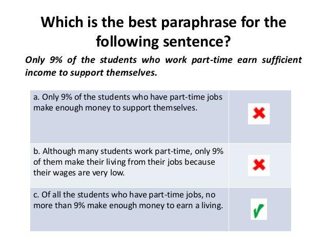 Rephrase a sentence