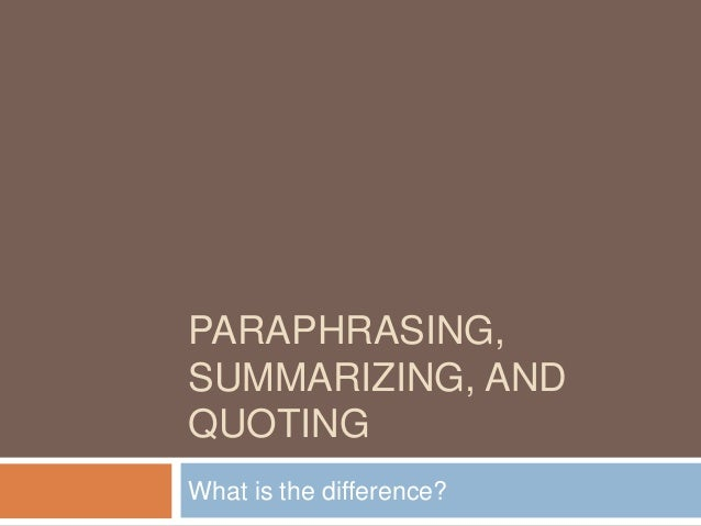 The best site for paraphrasing