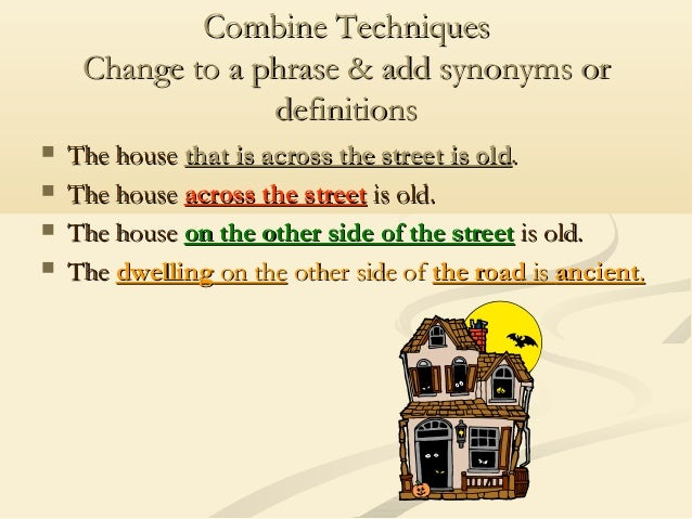 Synonyms for paraphrase