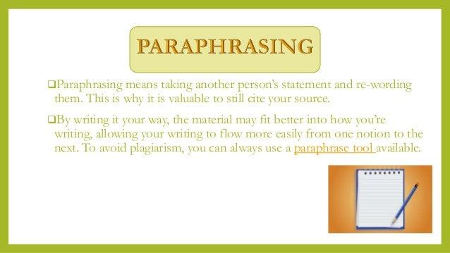 Paraphrasing vs summarizing