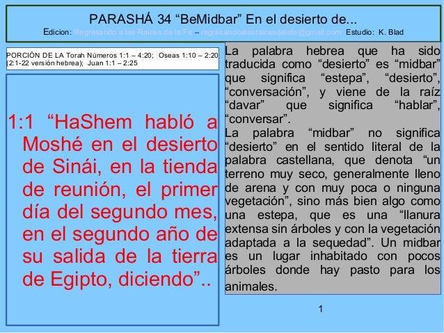 Parasha 34 be midbar