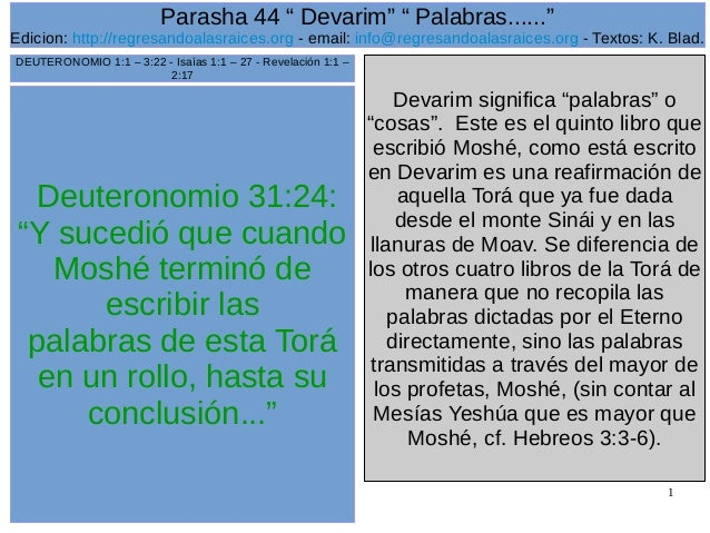 Parasha 44 devarim