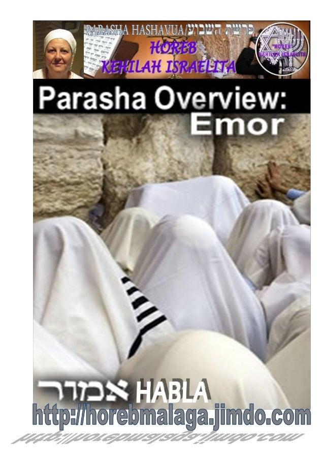 אמרParashá nº 31 Emor (Habla)Mes 2º Iyar (Calendario Kodesh de YHWH) (27-04-13)¡A los llamados de Yisrael pertenecientes...