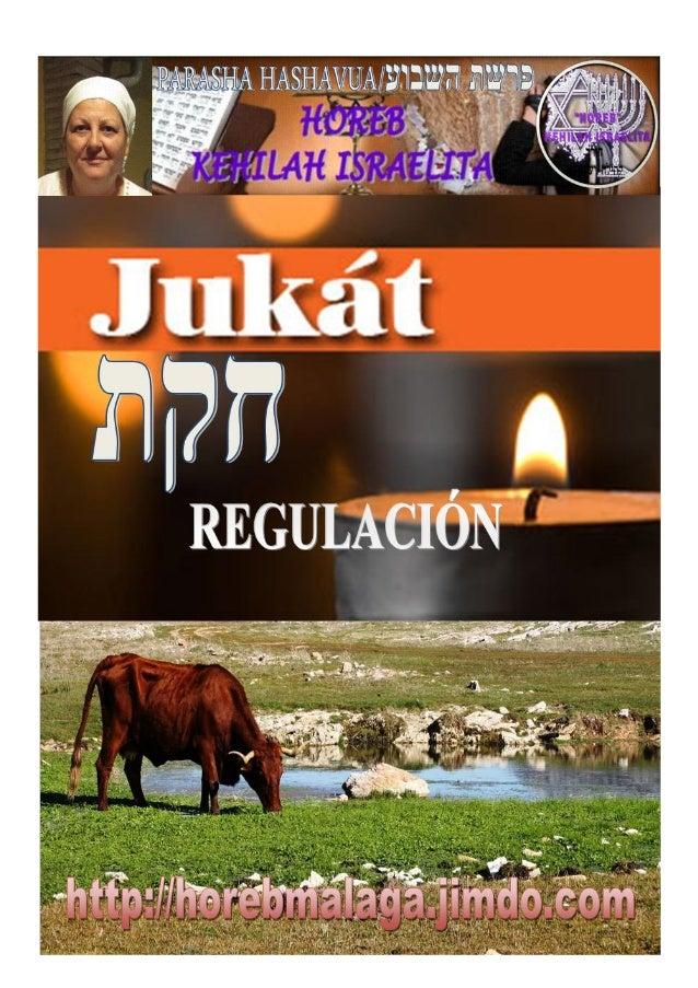 חוקת PARASHÁ Nº 39 JUKAT (REGULACIÓN) Mes 4º TAMUZ תמוז(Calendario Hebreo) (15-06-2013) En Años Regulares, leer con la...
