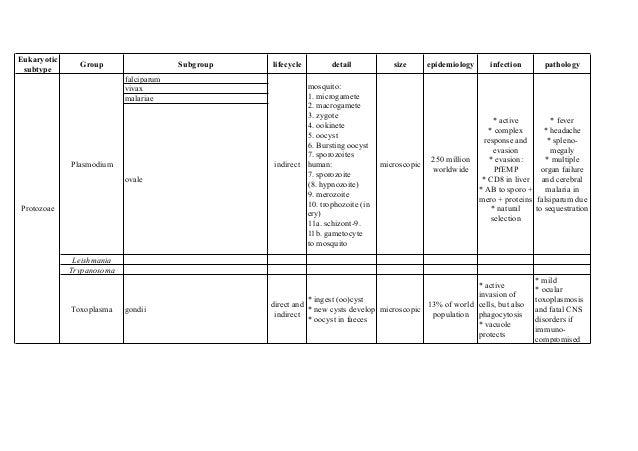 Eukaryotic               Group                    Subgroup   lifecycle        detail            size       epidemiology   ...