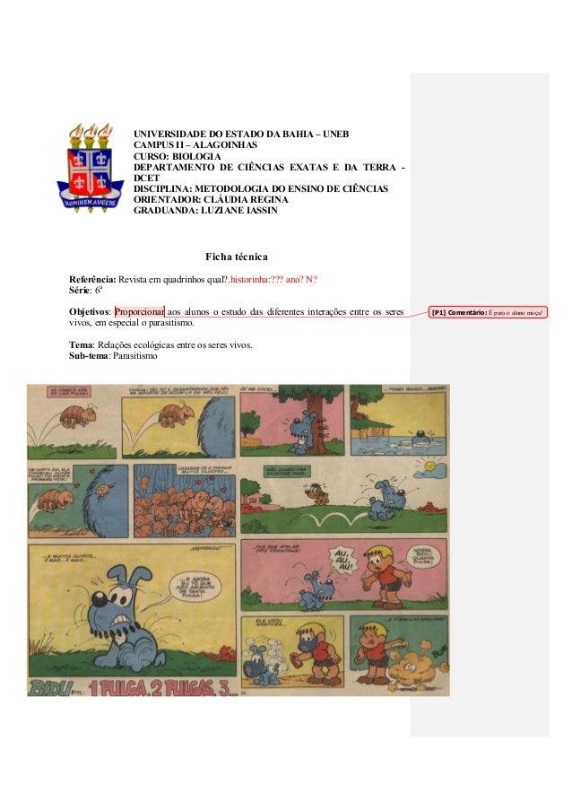 UNIVERSIDADE DO ESTADO DA BAHIA – UNEB CAMPUS II – ALAGOINHAS CURSO: BIOLOGIA DEPARTAMENTO DE CIÊNCIAS EXATAS E DA TERRA -...