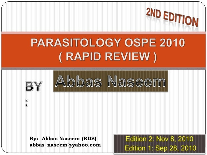Parasitology - Rapid OSPE Review