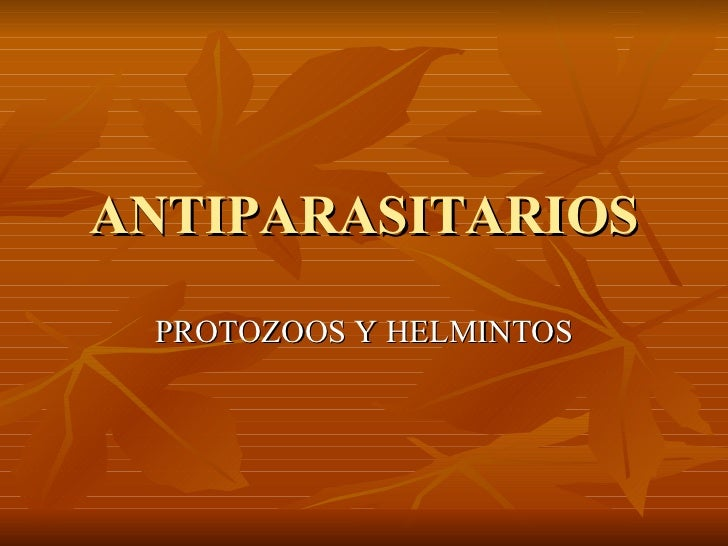 Parasitos Antiparasitarios