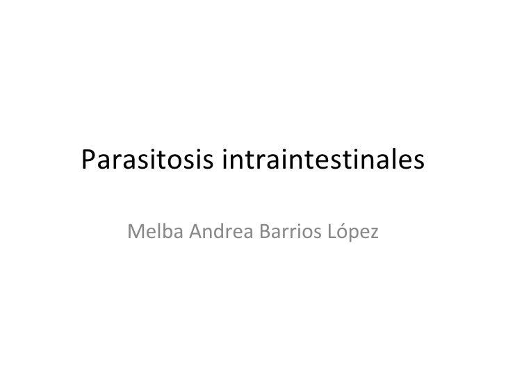 Parasitosis intraintestinales Melba Andrea Barrios López