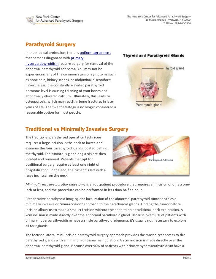 The New York Center for Advanced Parathyroid Surgery                                                                      ...
