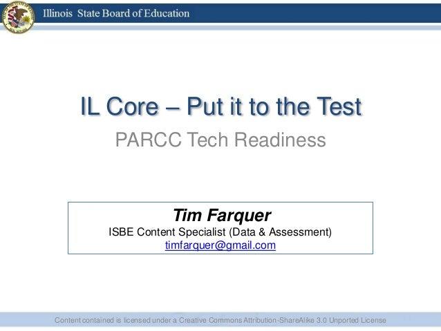 Parcc tech readiness