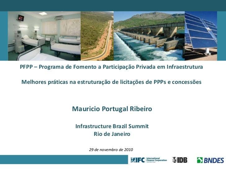 Parceria ifc bndes-bid e melhores praticas para infrastructure brazil summit 291110 - final