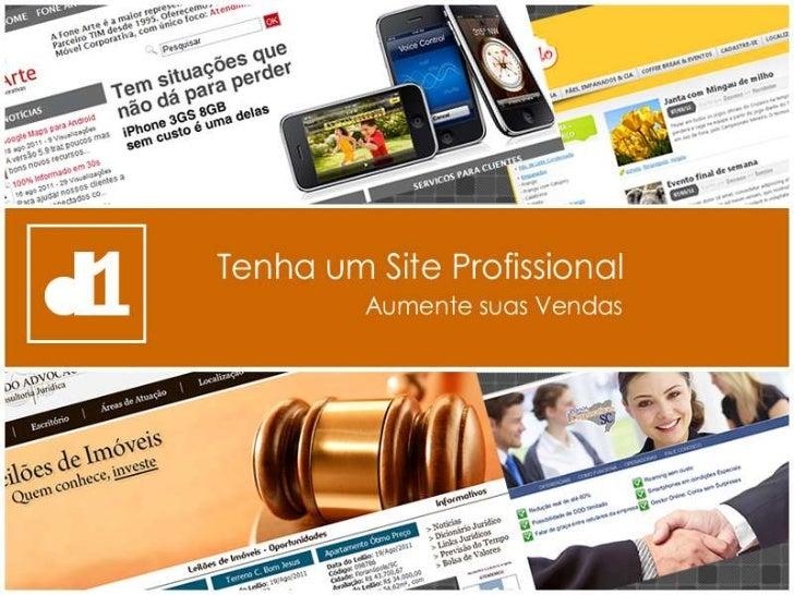 Site Profissional - Você poderá ter um