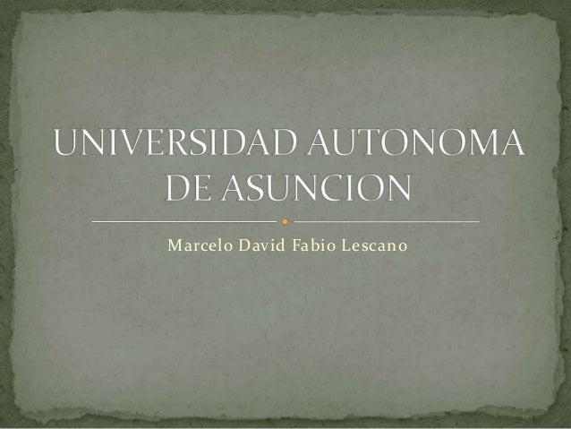 Marcelo David Fabio Lescano