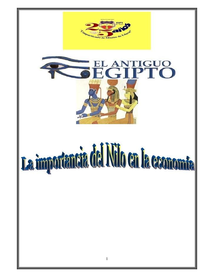 La importancia del Nilo