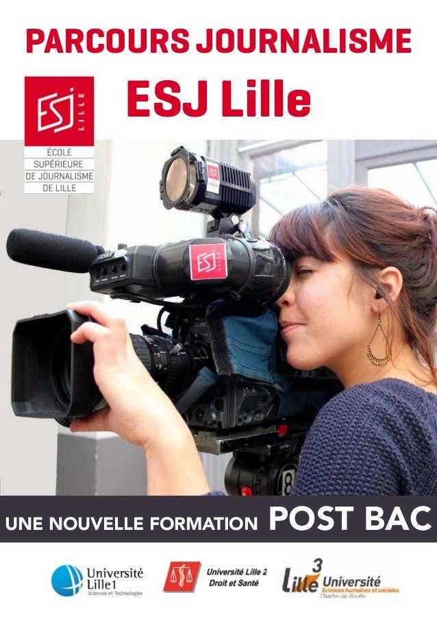 Plaquette Parcours Journalisme ESJ Lille