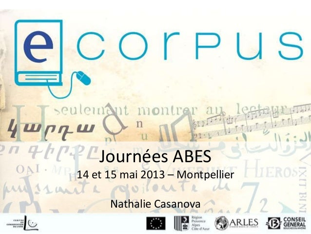 Journées ABES14 et 15 mai 2013 – MontpellierNathalie Casanova