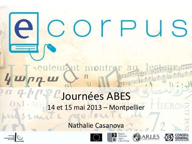 Parcours patrimoine - E-corpus