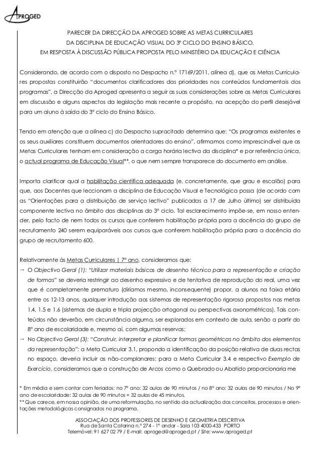 ASSOCIAÇÃO DOS PROFESSORES DE DESENHO E GEOMETRIA DESCRITIVA Rua de Santa Catarina n.º 274 - 1º andar - Sala 103 4000-433 ...