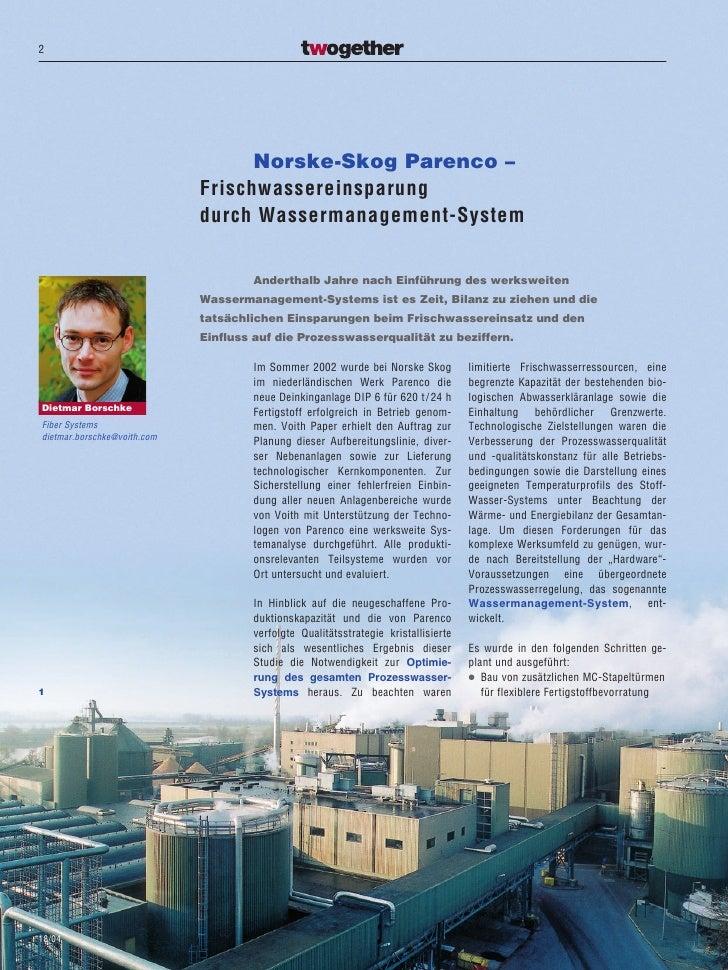 2                                        Norske-Skog Parenco –                              Frischwassereinsparung        ...