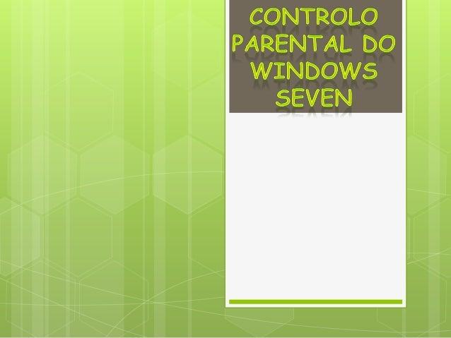 1º- Começar por ir ao painel de controlo eescolher a opção contas de usuário esegurança familiar