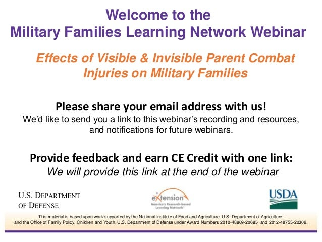 Effects of Visible & Invisible Parent Combat Injuries