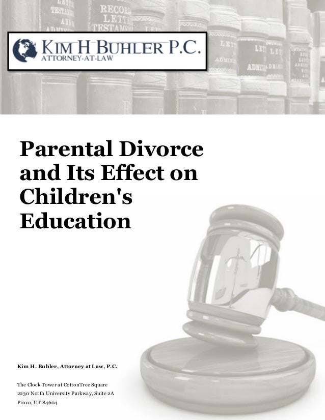 research paper on children of divorced parents Academic essay on divorce and its effects on children posted on june 5th, 2012 for the last decade, the issue of divorce and increased divorce rates in modern.