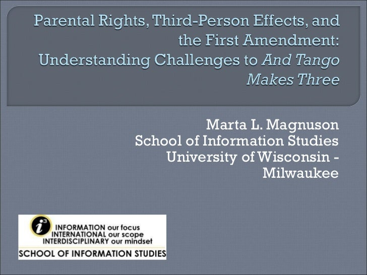 Parental rights, third person effects, and the