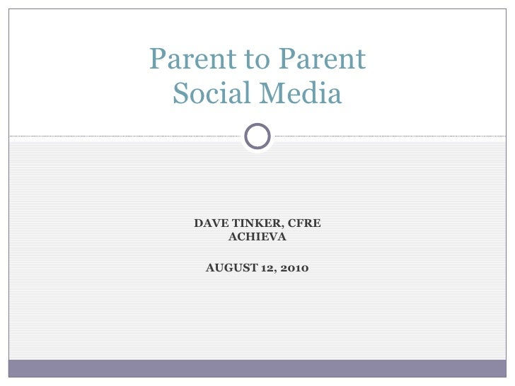 Parent to Parent - Social Media and Privacy