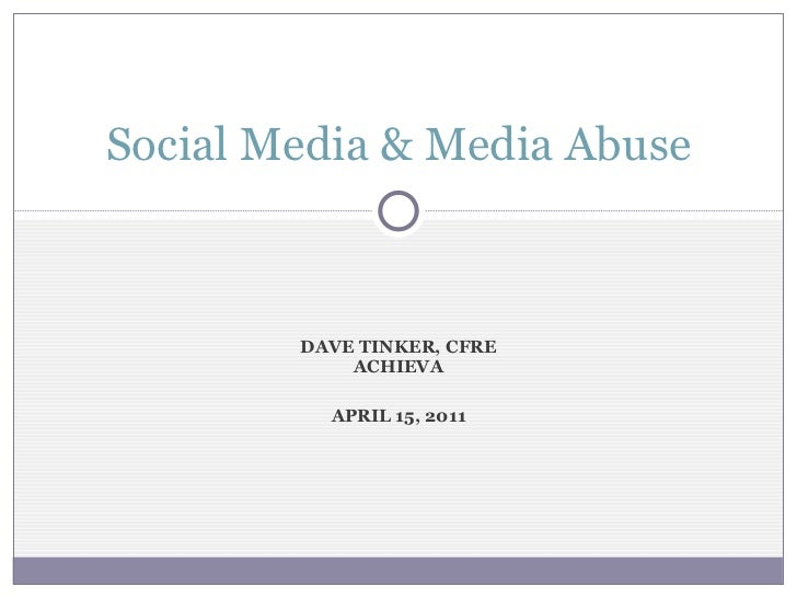 Social Media and Media Abuse for Parents