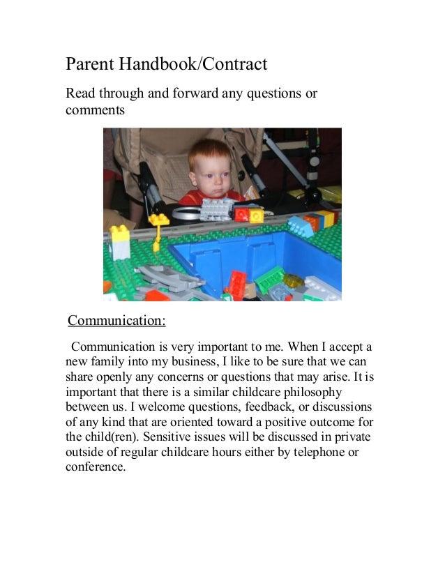 Parent handbook #2