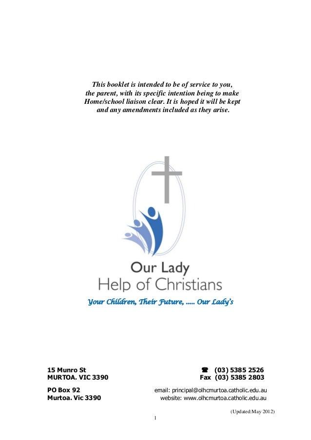 Parent info book april 2012
