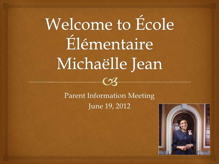 Parent Information Meeting        June 19, 2012