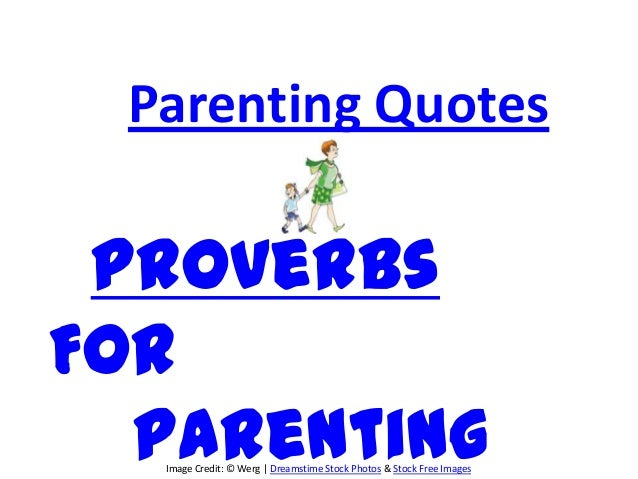Parenting proverbs