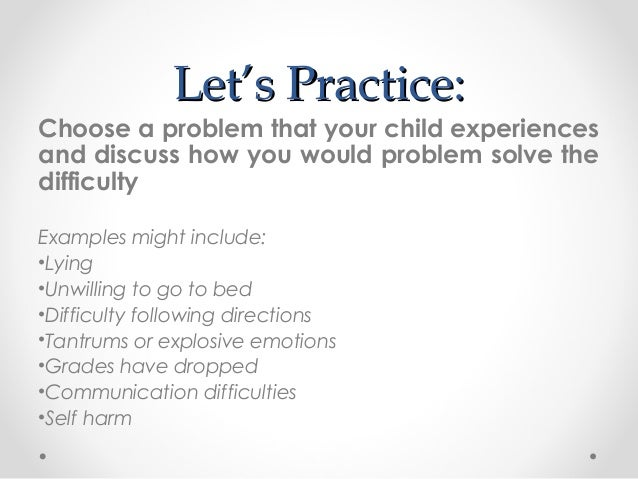 Problem solving seminar