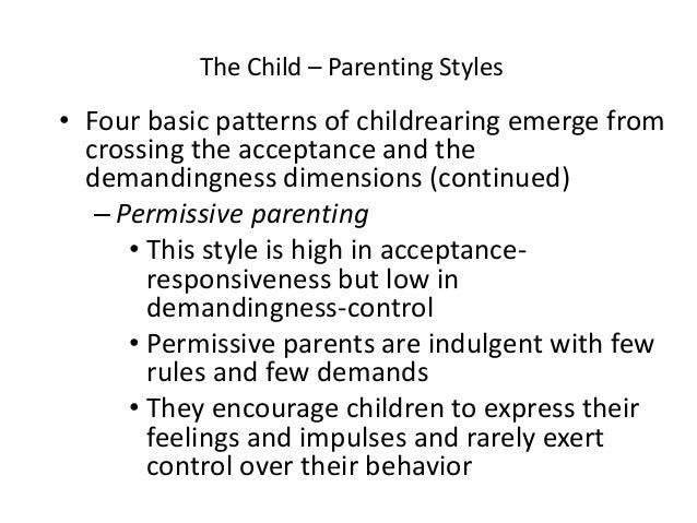 an analysis of parenting styles Parental personality and parenting style - download as pdf file (pdf), text file (txt) or read online journal about parental personality and parenting style.