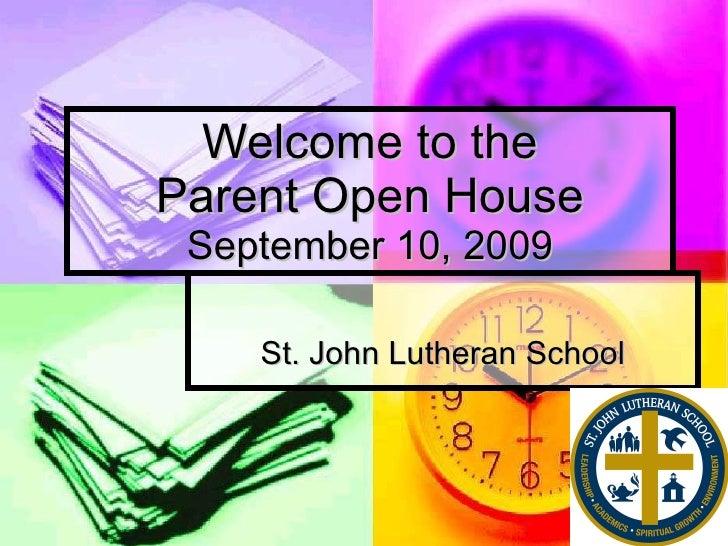Parent Open House 909