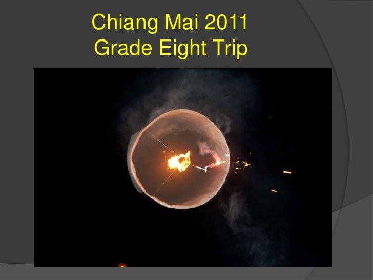 Grade Eight Chiang Mai Trip