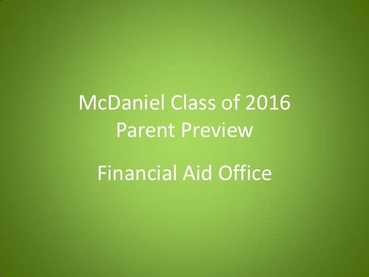 Parent preview - Financial Aid Office