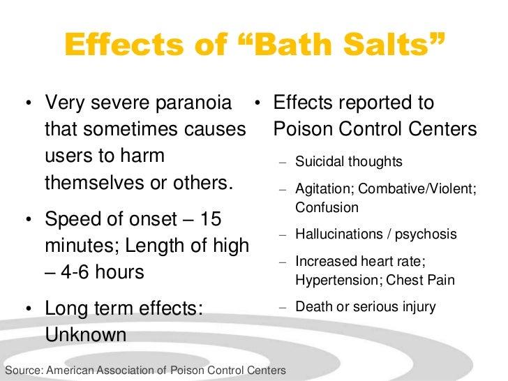 "Bath Salts Short Term Effects Effects of ""bath Salts"" • Very"