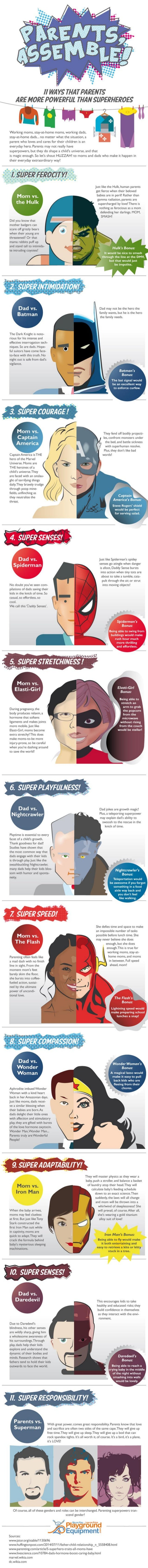 Parents, Assemble! 11 Ways That Parents Are More Powerful Than Superheroes