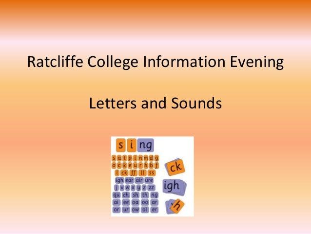 Parent Session 4 Phonics Letters Sounds