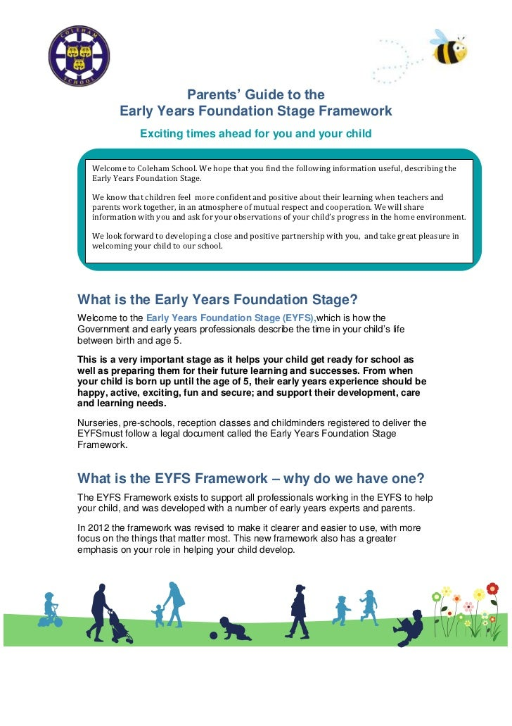 Parents EYFS information